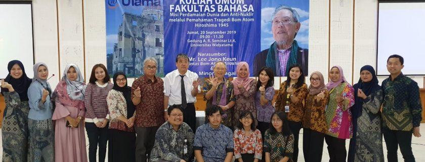 Kuliah Umum Fakultas Bahasa Misi Perdamaian Dunia dan Anti-Nuklir