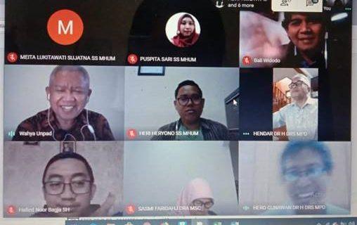 Rapat Koordinasi Dosen Pengampu MK di Semester Antara Prodi Bahasa Inggris